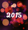 Happy 2015 new year on blurred background vector image