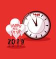 happy new year 2019 kawaii character vector image