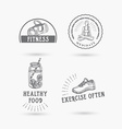 Healthy life icon design vector image vector image