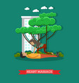 heart massage in flat style vector image