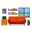home interior for web site print poster vector image vector image