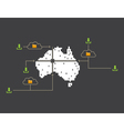 Internet Australia vector image vector image