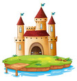 isolated castle on white background vector image vector image