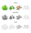 isolated object of urban and street symbol vector image