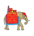 isolated object on white background elephant in vector image vector image