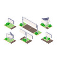 isometric billboard on green ground near road vector image