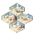 Isometric Hospital Concept vector image vector image