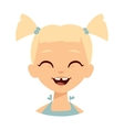 Laughing girl vector image