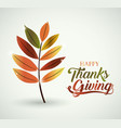 Leaf of thanks given design
