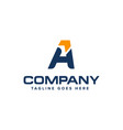 letter a and arrow logo design abstract logo vector image vector image