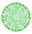 medical pharmacy fireworks sphere vector image vector image