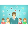 Modern Woman Teacher and Kids vector image vector image