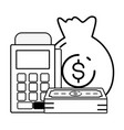 online banking icons vector image