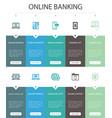 online banking infographic 10 option ui design
