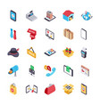online shopping and payment icons pack vector image vector image