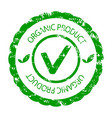 organic product green stamp seal vector image vector image