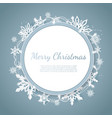 origami snowfall merry christmas greetings card vector image