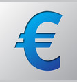 paper art of the symbol of euro currency vector image