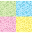 patterns smiles vector image vector image