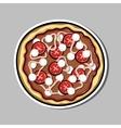 PizzaSticker5 vector image vector image