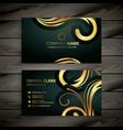 premium luxury golden business card design vector image vector image