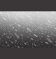 realistic falling snow on transparent background vector image