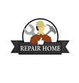 repair services logo vector image vector image
