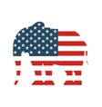 republican party emblem isolated icon vector image vector image