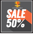 Sale up to 50 percent vector image vector image