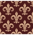Seamless brown and beige lilies pattern vector image vector image