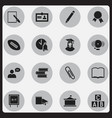 set of 16 editable graduation icons includes vector image vector image