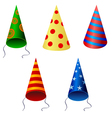 set of festive caps vector image vector image