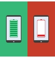smartphone battery flat design vector image