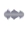 sound waves icon colorful icon shaked vector image vector image