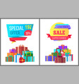 special offer final price exclusive sale posters vector image vector image