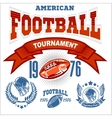 Sport American Football Logo vector image vector image