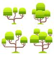Stylized tree on white background vector image vector image