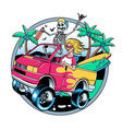 surfing t-shirt designs surf van vector image