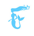 symbol gentle silhouette mermaid vector image