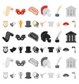 theatrical art cartoon icons in set collection for vector image