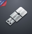 USB flash icon symbol 3D style Trendy modern vector image