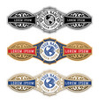 vintage cigar label template with emboss vector image vector image