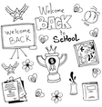 Doodle of black white school vector image