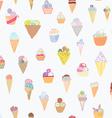 Ice cream seamless pattern funny design vector image