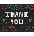 Thank you card design Cute greeting card with vector image