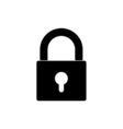 closed lock icon vector image