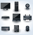 Computers and peripherals icons vector image