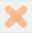 3d realistic medical patch icon closeup vector image vector image