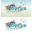 about us website banner concept vector image vector image