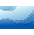 Abstract blue wave - 3d effect vector image vector image